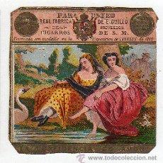 Paquetes de tabaco: MARQUILLA.VISTA.BOFETON DE TABACO SIGLO XIX 1865 CUBA. Lote 39046501