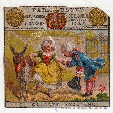 Paquetes de tabaco: MARQUILLA.VISTA.BOFETON DE TABACO SIGLO XIX 1865 CUBA. Lote 39046530