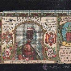 Paquetes de tabaco: MARQUILLA.VISTA.BOFETON DE TABACO SIGLO XIX 1865 CUBA. Lote 39122802