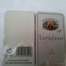 Maços de tabaco: CAJETILLA METÁLICA VACÍA DE DANNEMANN ESPRESSO. Lote 40909958