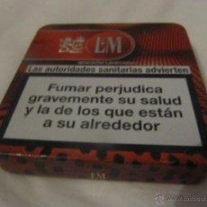 Paquetes de tabaco: CAJA METALICA TABACO- LM- EDICION LIMITADA. Lote 40967640