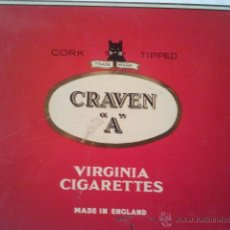 Paquetes de tabaco: CAJA DE CIGARRILLOS - VIRGINIA CIGARRETEES - CRAVEN A -. Lote 40973887