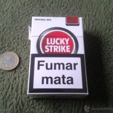 Paquetes de tabaco: PAQUETE CAJETILLA DE TABACO CIGARRILLOS LUCKY STRIKE DE PORTUGAL CON TIMBRE DEL ESTADO PORTUGUES. Lote 113099074