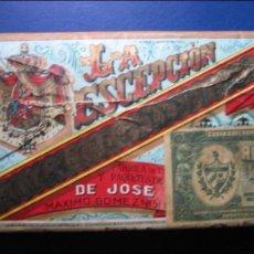 Paquetes de tabaco: PAQUETE DE TABACO DE PICADURA LA ESCEPCION, HABANA.. Lote 36261463