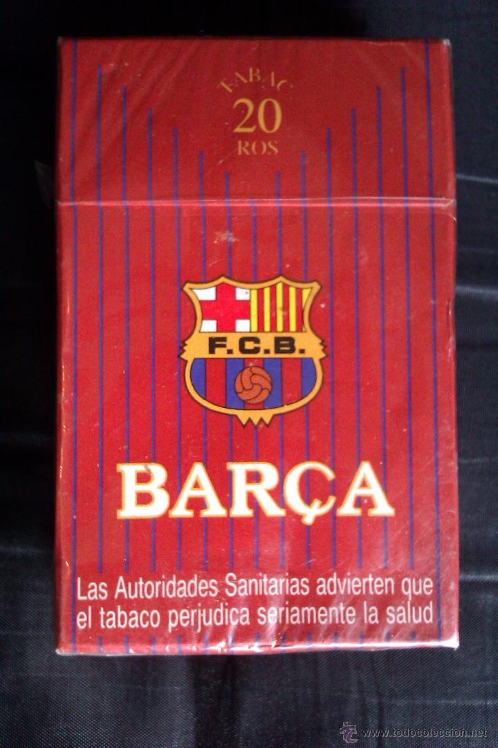 PAQUETE DE TABACO DEL F.C BARCELONA EDICION LIMITADA MUY DIFICIL DE CONSEGUIR CERRADO SIN ABRIR (Coleccionismo - Objetos para Fumar - Paquetes de tabaco)
