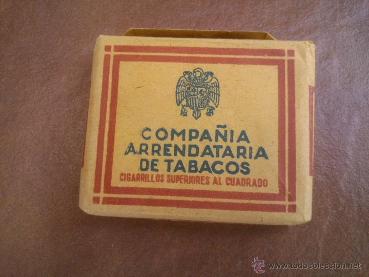 ANTIGUO PAQUETE CON 20 CIGARRILLOS SUPERIORES AL CUADRADO - COMPAÑIA ARRENDATARIA DE TABACOS. (Coleccionismo - Objetos para Fumar - Paquetes de tabaco)