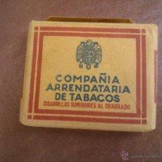 Paquetes de tabaco: ANTIGUO PAQUETE CON 20 CIGARRILLOS SUPERIORES AL CUADRADO - COMPAÑIA ARRENDATARIA DE TABACOS.. Lote 42378205