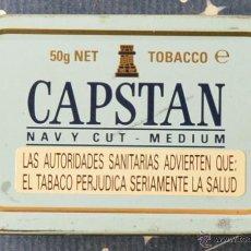 Paquetes de tabaco: CAPSTAN - NAVI CUT MEDIUM - CAJITA DE LATÓN DE TABACO DE PIPA . Lote 42902402