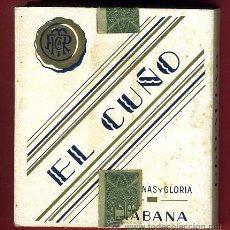 Paquetes de tabaco: PAQUETE DE TABACO, EL CUÑO , HABANA CUBA , VACIO, CARTULINA, ORIGINAL. Lote 55700635
