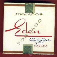 Paquetes de tabaco: PAQUETE DE TABACO, EDEN TOSTADO , HABANA CUBA , VACIO, CARTULINA, ORIGINAL. Lote 43060483
