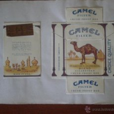 Paquetes de tabaco: CAMEL TURKISH & DOMESTIC BLEND FILTER CRUSH PROOF BOX PAQUETE 20 CIGARRILLOS PRECINTO TABACO DORADO. Lote 43256880