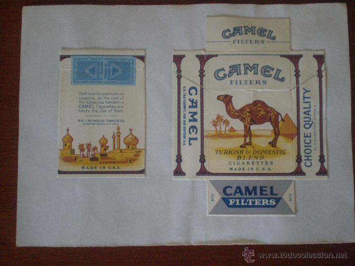 CAMEL FILTERS TURKISH & DOMESTIC BLEND. MADE IN USA. PAQUETE 20 CIGARRILLOS PRECINTO TABACO REYNOLDS (Coleccionismo - Objetos para Fumar - Paquetes de tabaco)