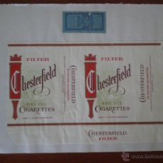 Paquetes de tabaco: CHESTERFIELD FILTER KING SIZE PAQUETE 20 CIGARRILLOS PRECINTO TABACO CLASS A. Lote 43259266