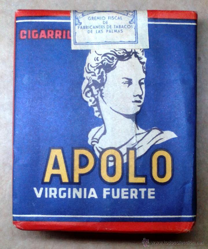 1 ANTIGUA ('60S-'70S) CAJETILLA CON CIGARRILLOS - NUNCA ABIERTA - 'APOLO' (VIRGINIA FUERTE) (Coleccionismo - Objetos para Fumar - Paquetes de tabaco)