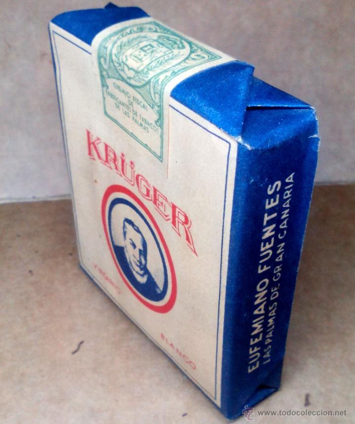 Paquetes de tabaco: 1 ANTIGUA ('60s-'70s) CAJETILLA CON CIGARRILLOS - NUNCA ABIERTA - 'KRÜGER' (VIRGINIO BLANCO) - Foto 2 - 109129976