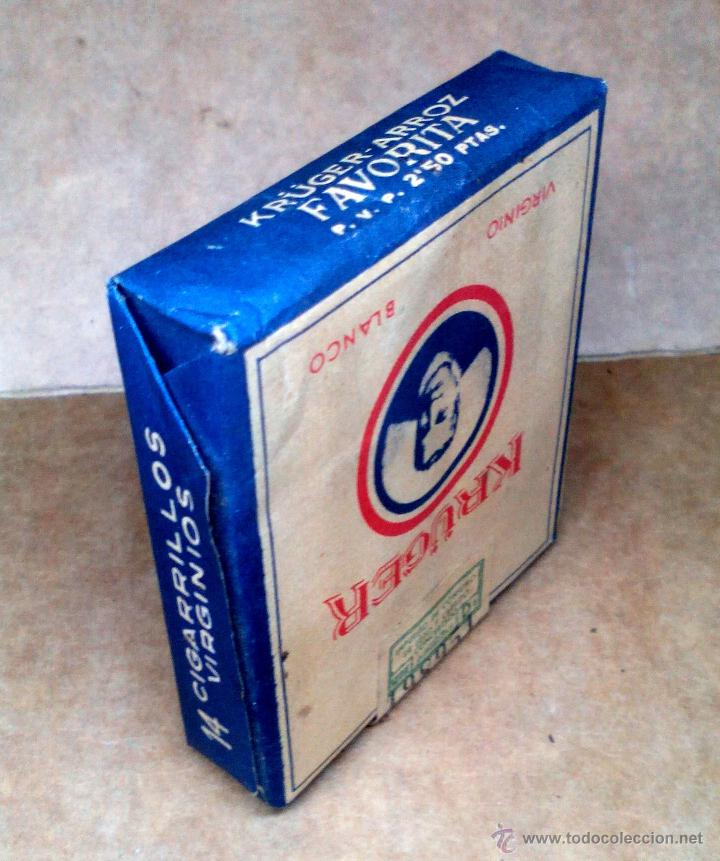 Paquetes de tabaco: 1 ANTIGUA ('60s-'70s) CAJETILLA CON CIGARRILLOS - NUNCA ABIERTA - 'KRÜGER' (VIRGINIO BLANCO) - Foto 3 - 109129976
