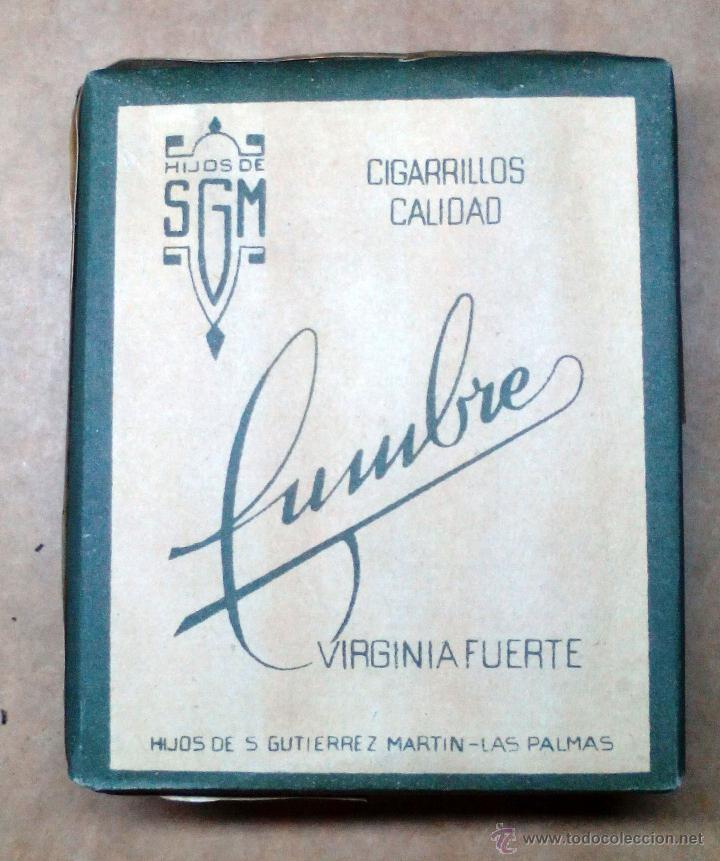 1 ANTIGUA ('60S-'70S) CAJETILLA CON CIGARRILLOS - NUNCA ABIERTA - 'CUMBRE' (VERDE) (Coleccionismo - Objetos para Fumar - Paquetes de tabaco)