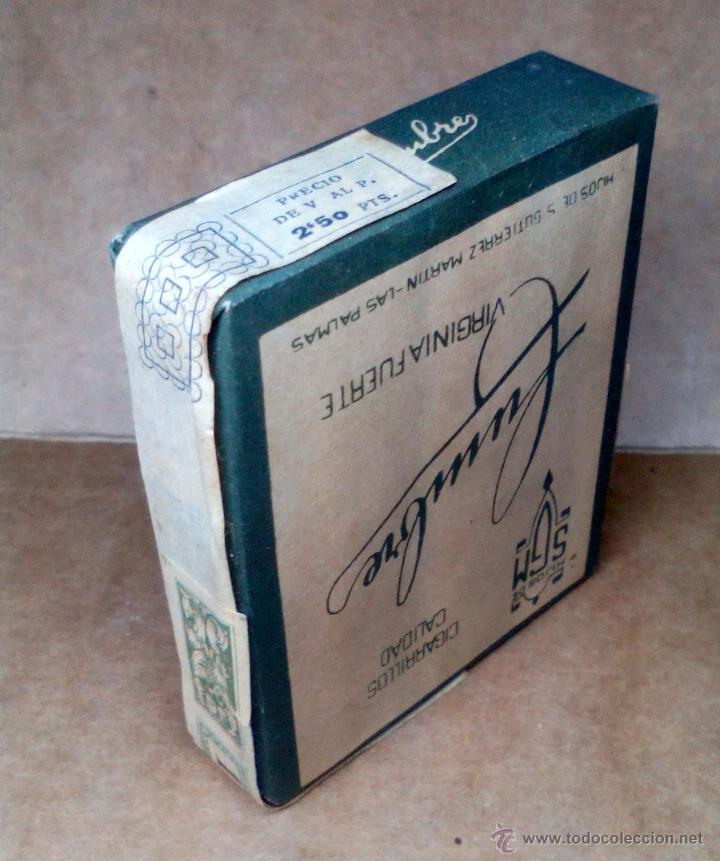 Paquetes de tabaco: 1 ANTIGUA ('60s-'70s) CAJETILLA CON CIGARRILLOS - NUNCA ABIERTA - 'CUMBRE' (VERDE) - Foto 3 - 109129930
