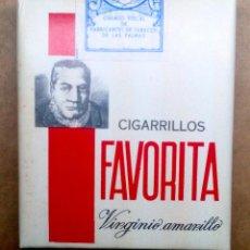 Paquetes de tabaco: 1 ANTIGUA ('60S-'70S) CAJETILLA CON CIGARRILLOS - NUNCA ABIERTA - 'FAVORITA' (VIRGINIO AMARILLO). Lote 109321410
