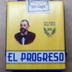 Paquetes de tabaco: 1 ANTIGUA ('60S-'70S) CAJETILLA CON CIGARRILLOS - NUNCA ABIERTA - 'EL PROGRESO' (MIXTOS - AZUL). Lote 237094975