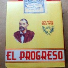 Paquetes de tabaco: 1 ANTIGUA ('60S-'70S) CAJETILLA CON CIGARRILLOS - NUNCA ABIERTA - 'EL PROGRESO' (MAÍZ - ROJA). Lote 227581915