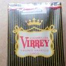 Paquetes de tabaco: 1 ANTIGUA ('60S-'70S) CAJETILLA CON CIGARRILLOS - NUNCA ABIERTA - 'VIRREY' (VIRGINIO AMARILLO LARGO). Lote 109321503