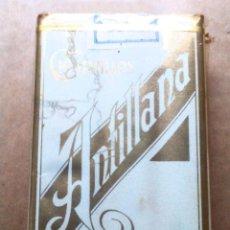 Paquetes de tabaco: 1 ANTIGUA ('60S-'70S) CAJETILLA CON CIGARRILLOS - NUNCA ABIERTA - 'ANTILLANA' (EXTRA KING SIZE). Lote 56575096