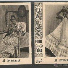 Paquetes de tabaco: AL LEVANTARSE - COLECCION COMPLETA 16 CROMOS PAQUETES DE TABACO - FABRICA FLOR DE CUBA - (CR-329). Lote 43634811