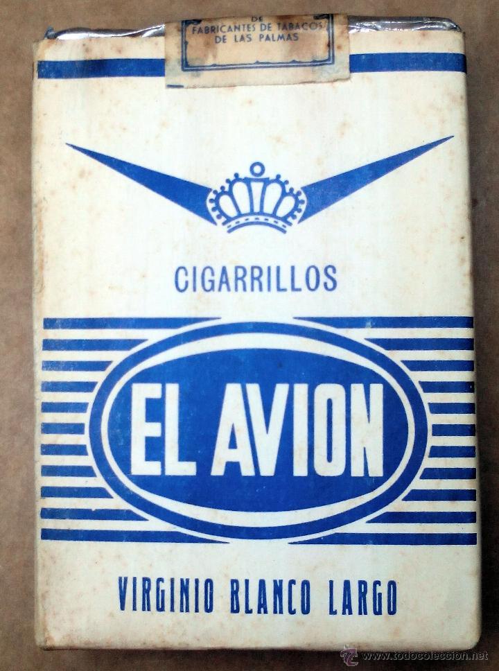 1 ANTIGUA ('60S-'70S) CAJETILLA CON CIGARRILLOS - NUNCA ABIERTA - 'EL AVIÓN' (VIRGINIO BLANCO LARGO) (Coleccionismos - Paquetes de tabaco)