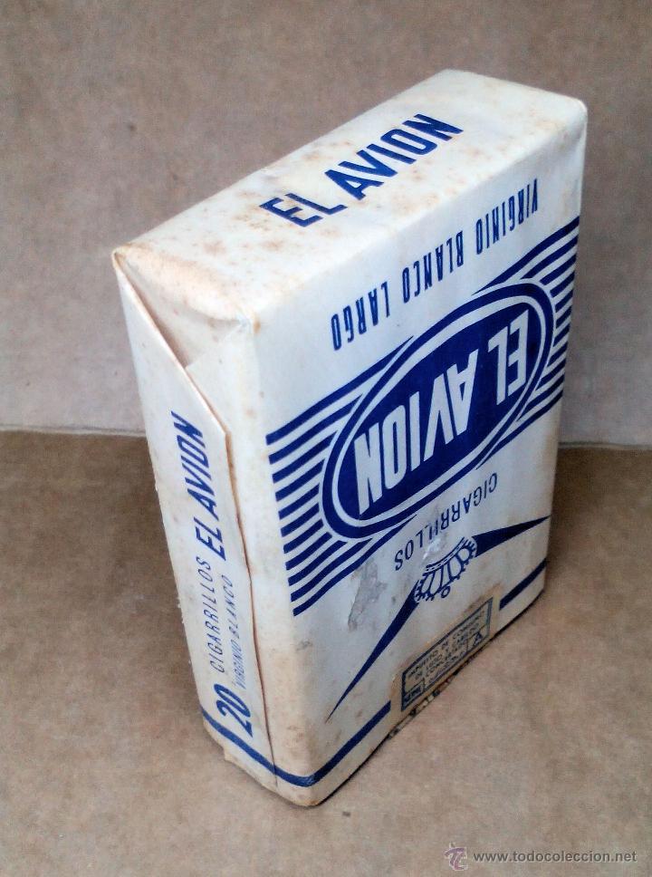 Paquetes de tabaco: 1 ANTIGUA ('60s-'70s) CAJETILLA CON CIGARRILLOS - NUNCA ABIERTA - 'EL AVIÓN' (VIRGINIO BLANCO LARGO) - Foto 3 - 109129867