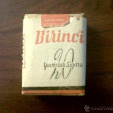 Paquetes de tabaco: PAQUETE CIGARRILLOS BIRINCI YUVARLAK SIGARA TEKEL-SIN ABRIR. Lote 43771420