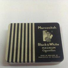 Paquetes de tabaco: CAJITA METALICA CIGARRILLOS MARCOVITCH . Lote 43815872