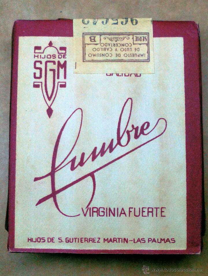 1 ANTIGUA ('60S-'70S) CAJETILLA CON CIGARRILLOS - NUNCA ABIERTA - 'CUMBRE' (ROJO) (Coleccionismos - Paquetes de tabaco)