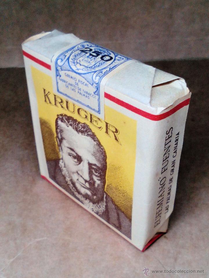 Paquetes de tabaco: 1 ANTIGUA ('60s-'70s) CAJETILLA CON CIGARRILLOS - NUNCA ABIERTA - 'KRÜGER' (AMARILLO) - Foto 2 - 109129996