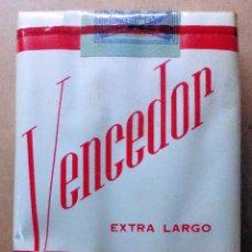 Paquetes de tabaco: 1 ANTIGUA ('60S-'70S) CAJETILLA CON CIGARRILLOS - NUNCA ABIERTA - 'VENCEDOR' (EXTRA LARGO FILTRO). Lote 159420453