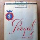 Paquetes de tabaco: 1 ANTIGUA ('60S-'70S) CAJETILLA CON CIGARRILLOS - NUNCA ABIERTA - 'ROYAL' (KING SIZE). Lote 61977108
