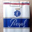 Paquetes de tabaco: 1 ANTIGUA ('60S-'70S) CAJETILLA CON CIGARRILLOS - NUNCA ABIERTA - 'ROYAL' (AZUL-KING SIZE). Lote 44891987