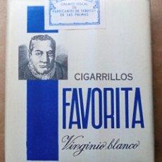 Paquetes de tabaco: 1 ANTIGUA ('60S-'70S) CAJETILLA CON CIGARRILLOS - NUNCA ABIERTA - 'FAVORITA' (VIRGINIO BLANCO). Lote 109321424