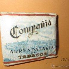 Paquetes de tabaco: ANTIGUO PAQUETE DE CIGARRILLOS ESPECIALES AL CUADRADO COMPAÑIA ARRENDATARIA DE TABACOS - AÑO 1940S. Lote 44231267
