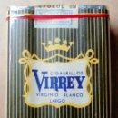 Paquetes de tabaco: 1 ANTIGUA ('60S-'70S) CAJETILLA CON CIGARRILLOS - NUNCA ABIERTA - 'VIRREY' (VIRGINIO BLANCO LARGO). Lote 109321471