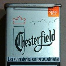 Paquetes de tabaco: CAJA TABACO CHESTERFIELD. CAJETILLA METALIZADA CON APERTURA POR LOMO SUPERIOR (9 X 6 CM.) NUEVA!. Lote 46693940
