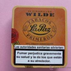 Paquetes de tabaco: CAJA METALICA CIGARILLOS WILDE TABACOS LA PAZ. Lote 44689015