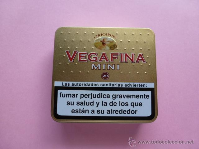 CAJA METALICA CIGARROS VEGAFINA MINI (Coleccionismo - Objetos para Fumar - Paquetes de tabaco)