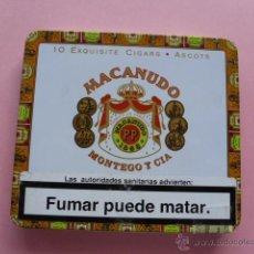 Paquetes de tabaco: CAJA METALICA 10 CIGARROS MACANUDO. Lote 44689070
