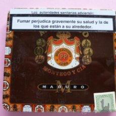 Paquetes de tabaco: CAJA METALICA CIGARROS MACANUDO MADURO. Lote 44689092