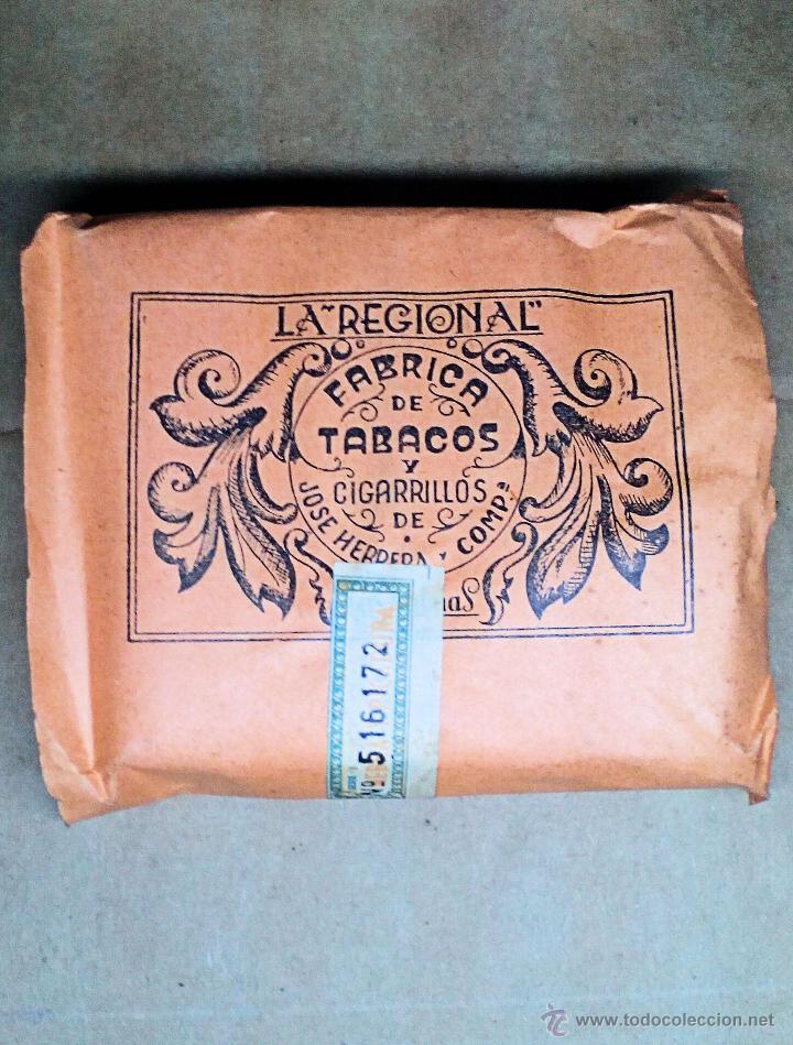 1 ANTIGUA ('60S) CAJETILLA CON CIGARRILLOS - NUNCA ABIERTA - 'LA REGIONAL' (NARANJA) (Coleccionismo - Objetos para Fumar - Paquetes de tabaco)