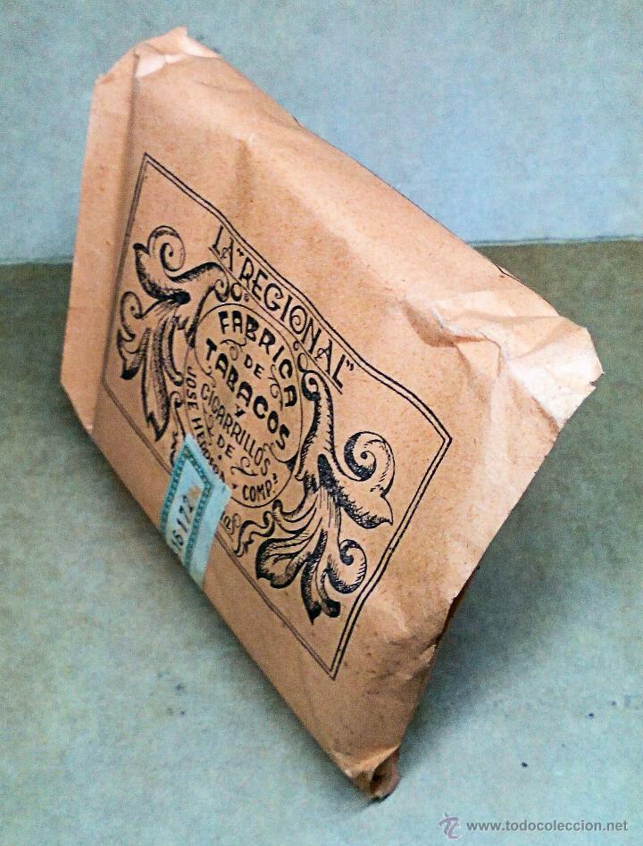 Paquetes de tabaco: 1 ANTIGUA ('60s) CAJETILLA CON CIGARRILLOS - NUNCA ABIERTA - 'LA REGIONAL' (NARANJA) - Foto 2 - 109129810