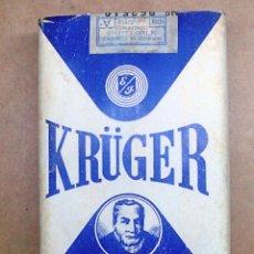 Paquetes de tabaco: 1 ANTIGUA ('60S-'70S) CAJETILLA CON CIGARRILLOS - NUNCA ABIERTA - 'KRÜGER' (BLANCO LARGO). Lote 247547460