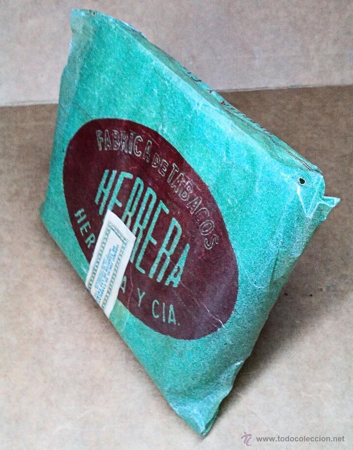 Paquetes de tabaco: 1 ANTIGUA ('60s) CAJETILLA CON CIGARRILLOS - NUNCA ABIERTA - 'HERRERA' (VERDE) - Foto 2 - 109129890