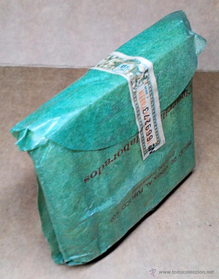 Paquetes de tabaco: 1 ANTIGUA ('60s) CAJETILLA CON CIGARRILLOS - NUNCA ABIERTA - 'HERRERA' (VERDE) - Foto 3 - 109129890